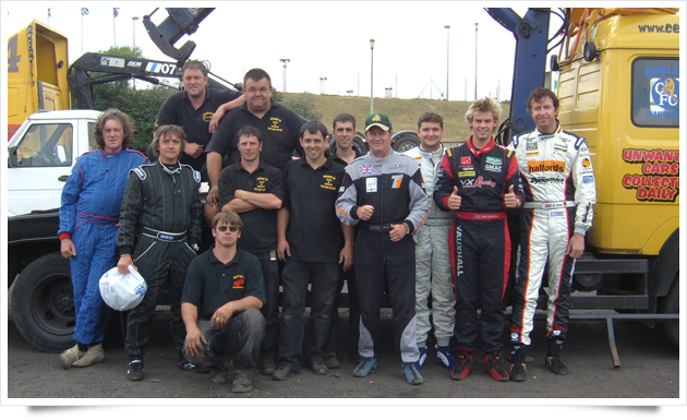 The UK Action Cars team at Arena Essex